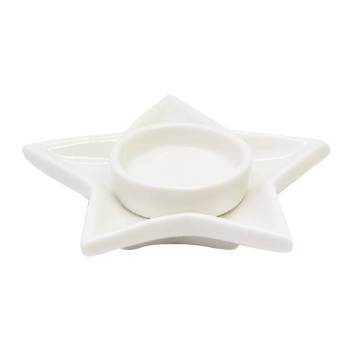 Candela Winter Star Din Ceramica 12x3 Cm