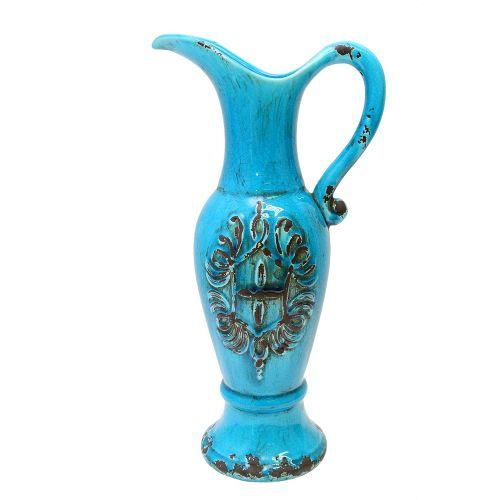 Carafa Din Ceramica Antichizata Turcoaz