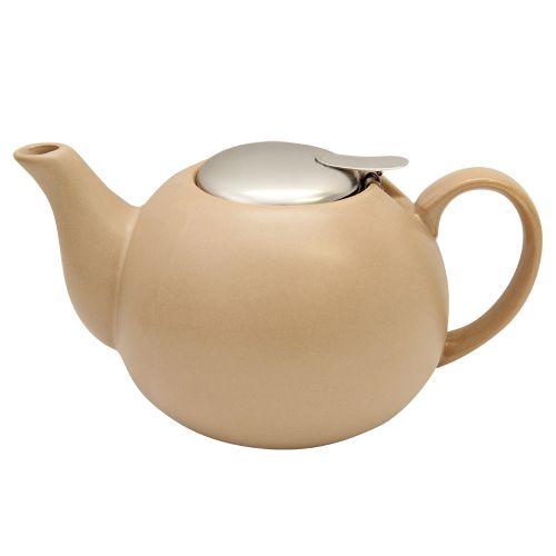 Ceainic Din Ceramica Cu Capac Maro 14 Cm