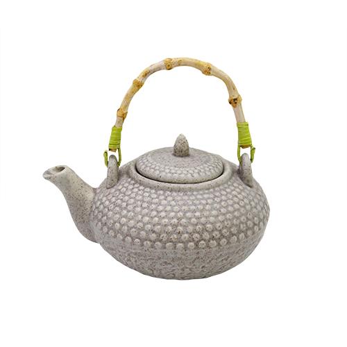Ceainic Jasmine Din Ceramica Gri 15x10 Cm