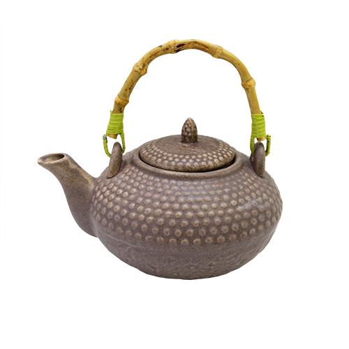 Ceainic Jasmine Din Ceramica Maro 15x10 Cm
