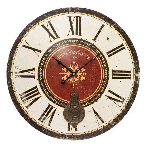 Ceas De Perete Tiempo Din Lemn Cu Pendul 60 Cm