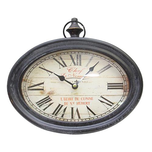Ceas de perete Hubert din metal negru 28x25x6.5 cm