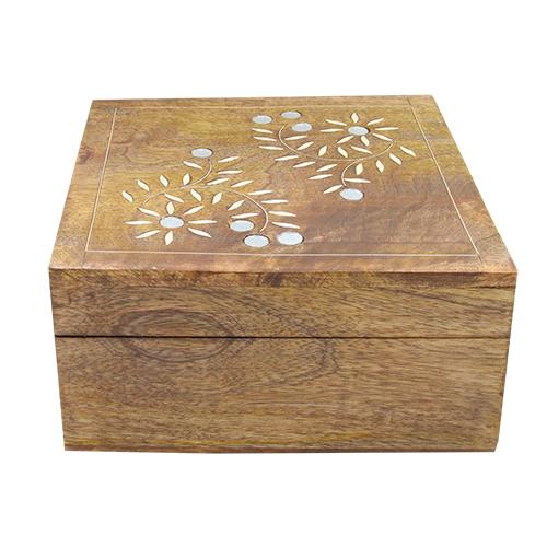 Cutie Pentru Bijuterii Agatha Din Lemn Maro 20.5x20x9.5 Cm