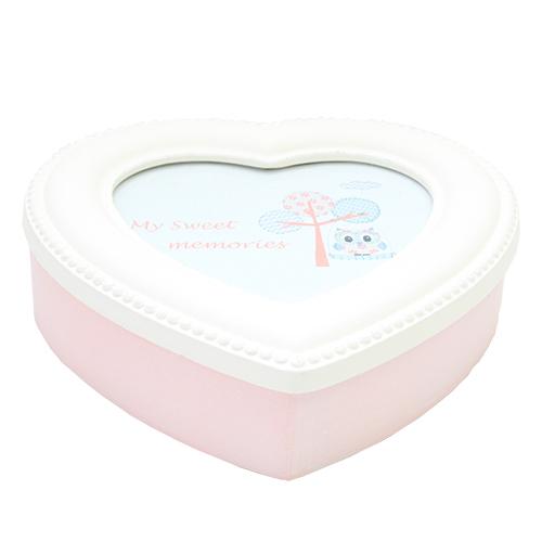 Cutie pentru bijuterii Heart din lemn roz 20x20x5.5 cm