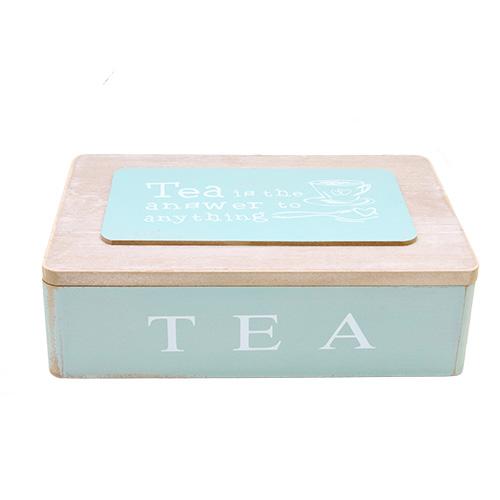 Cutie Pentru Ceai Blue Frenzy Din Lemn Albastru 24