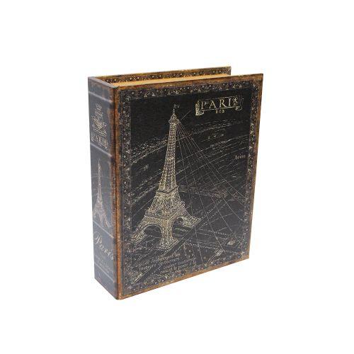 Cutie Tip Carte Paris Din Lemn 12x18x4 Cm