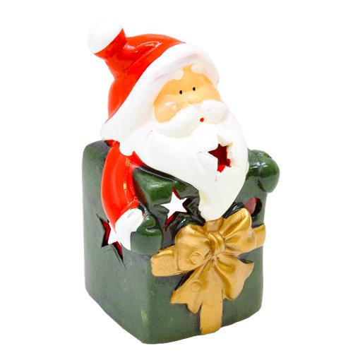 Deco Candela Santa Din Ceramica Verde 8x7x1.