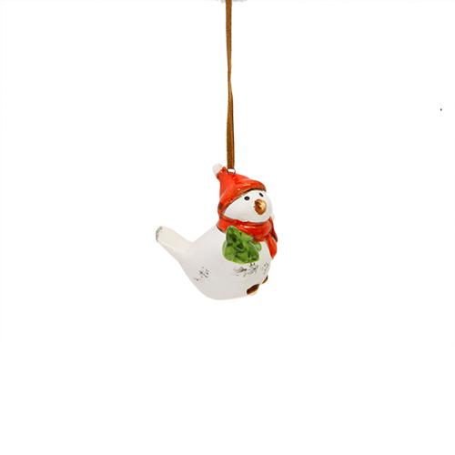 Deco Little Bird Din Ceramica Alba 4x6x5.5 Cm