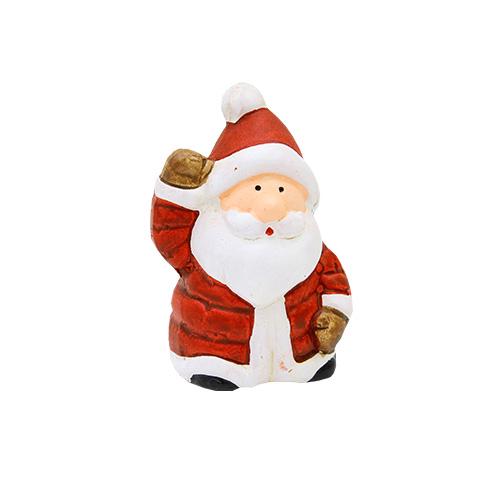 Deco Santa Din Ceramica Rosie 4.5x4x6 Cm