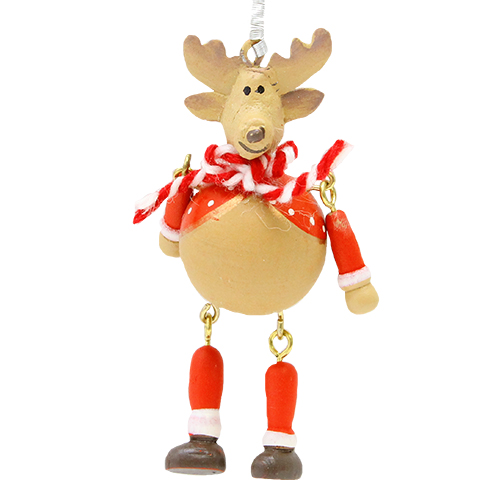 Decoratiune Bouncy Reindeer 9 Cm