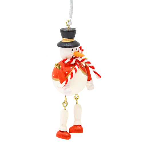 Decoratiune Bouncy Snowmen 8 Cm