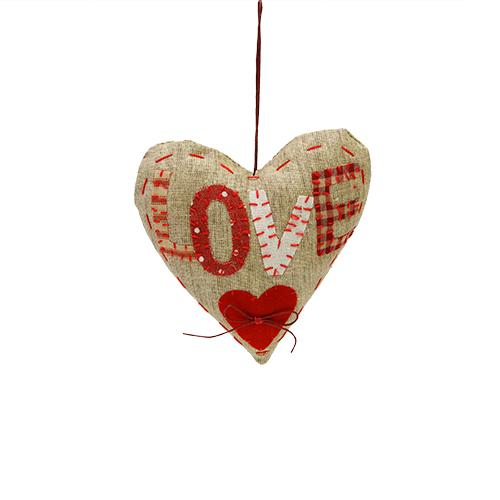 Decoratiune Inima Rosie 13x5x13 Cm