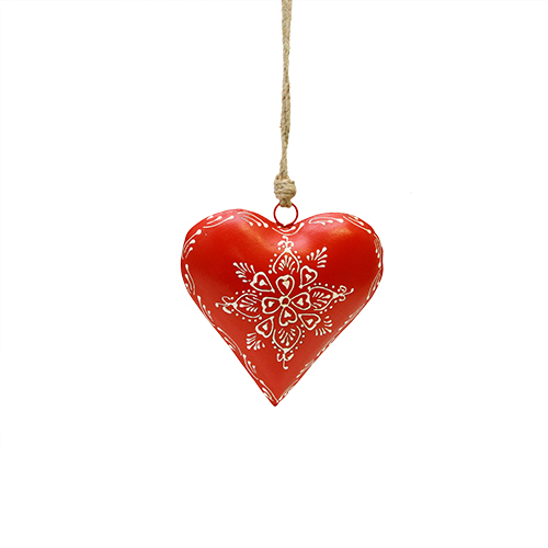 Decoratiune Inima Rosie 15x6x15 Cm