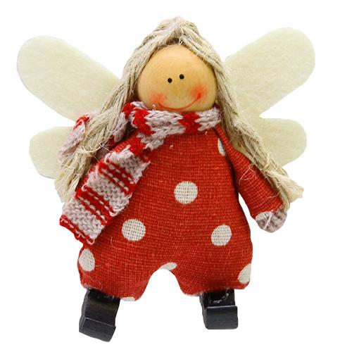 Decoratiune Little Red Angel 8.5x3x9 Cm