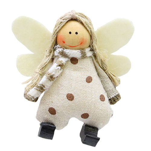 Decoratiune Little White Angel 8.5x3x9 Cm