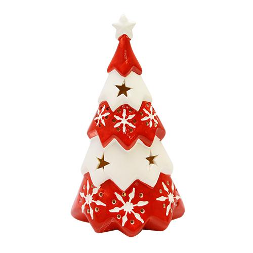 Decoratiune Lovely Christmas Din Ceramica 12x10x22 Cm