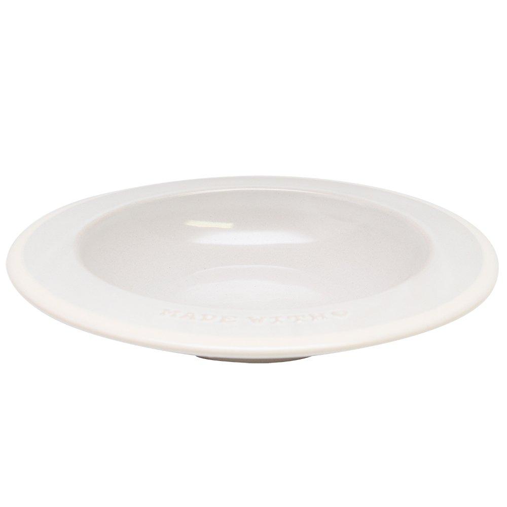 Farfurie Italian Pasta Din Ceramica Crem Diametru 25 Cm