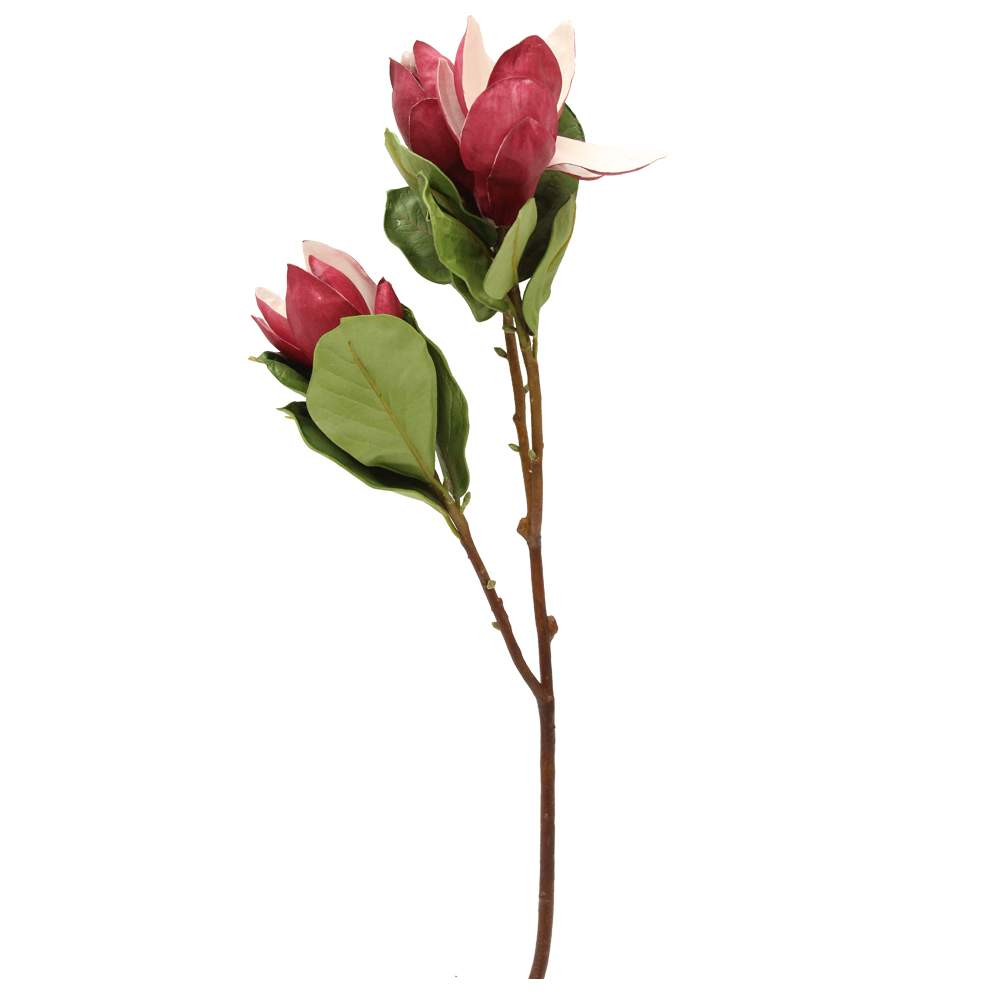 Floare Magnolia Bordo 80 Cm