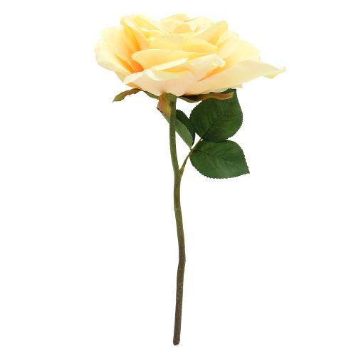 Floare Artificiala Trandafir Galben 33 Cm