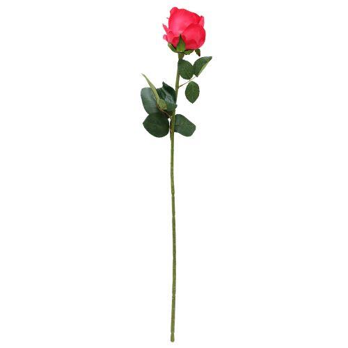 Floare Artificiala Trandafir Rosu 65 Cm