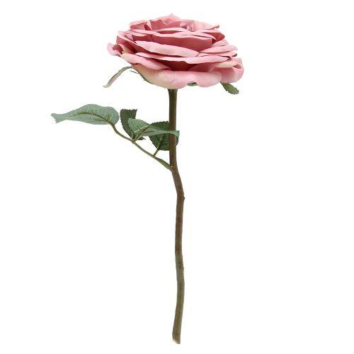 Floare Artificiala Trandafir Roz 30 Cm