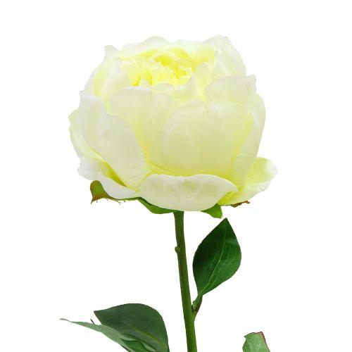 Floare Bujor Galben 51 Cm