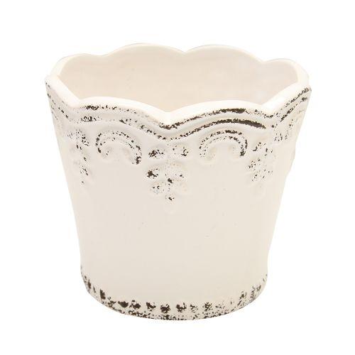 Ghiveci Din Ceramica Alb 11 Cm