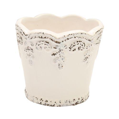 Ghiveci Din Ceramica Alb 8 Cm