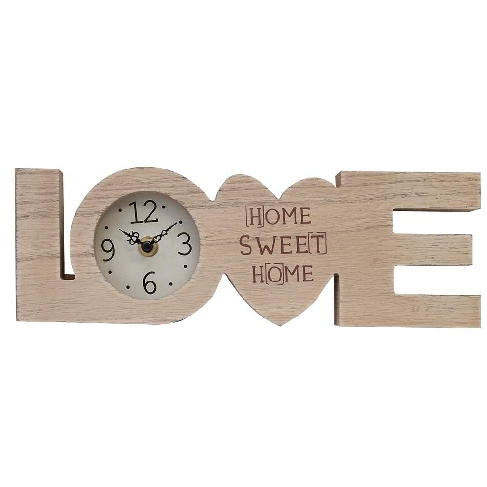 Ceas De Birou Love Din Lemn 30x2.5x10 Cm