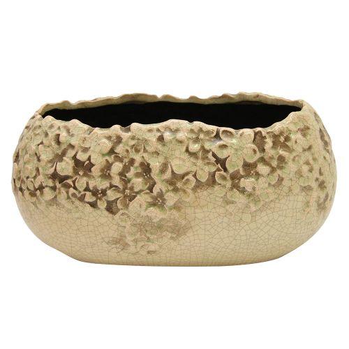 Jardiniera Hortensia Din Ceramica Verde 28 Cm