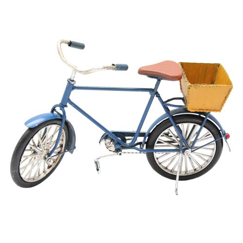 Macheta Bicicleta Din Metal Albastra 22x7x13 Cm