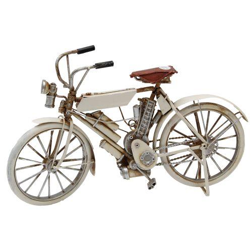 Macheta Bicicleta Din Metal Crem 30x6x8 Cm