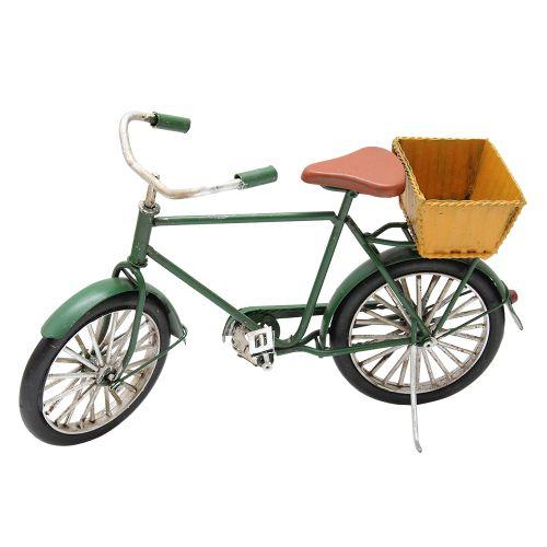 Macheta Bicicleta Din Metal Verde Cu Cos Galben 22x5x13 Cm