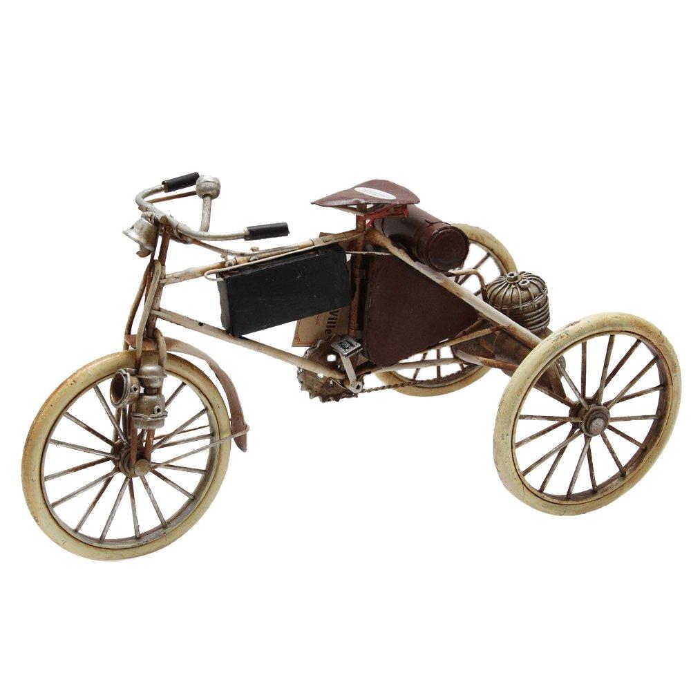 Macheta Tricicleta Din Metal Crem 32x16x16 Cm