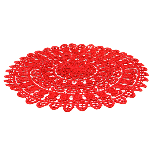 Napron Red Lace Din Bumbac 40 Cm