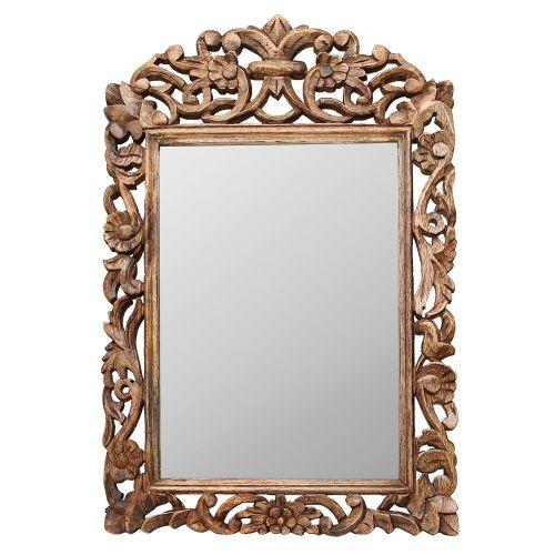 Oglinda Cu Rama Din Lemn Sculptat Maro 45x70 Cm