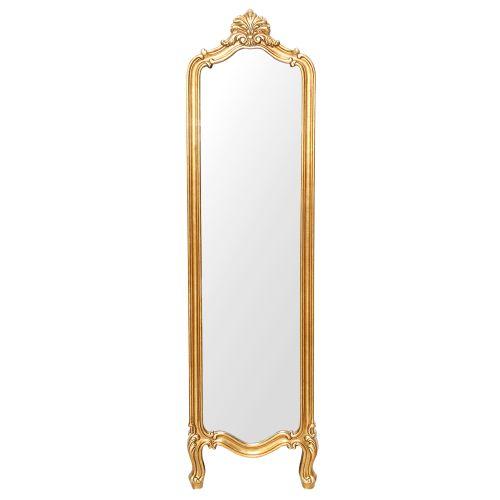 Oglinda Cu Suport Si Rama Din Polirasina Auriu Sculptat 178x44 Cm