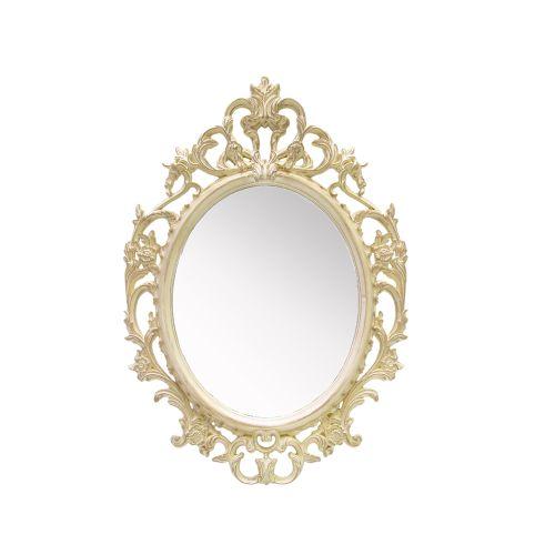 Oglinda Decorativa Cu Rama Antichizata Crem