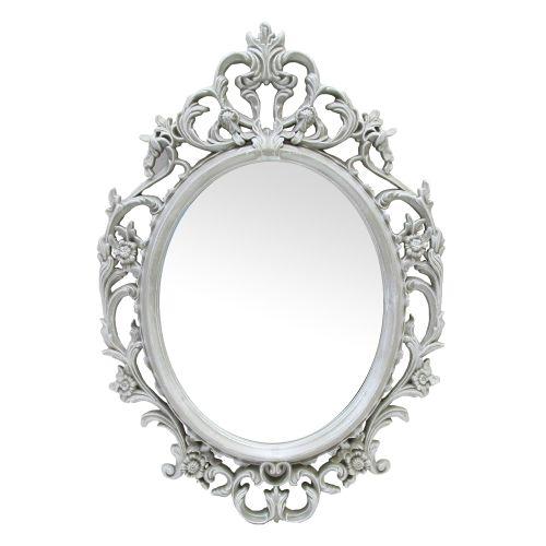 Oglinda Decorativa Cu Rama Antichizata Gri