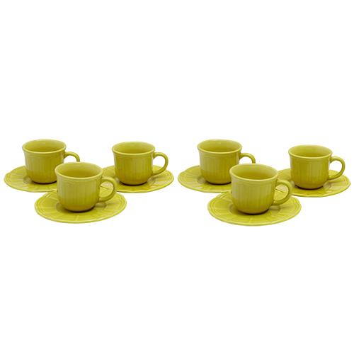 Pachet 6 Cesti Cu Farfurii Golden Delicacy Din Ceramica
