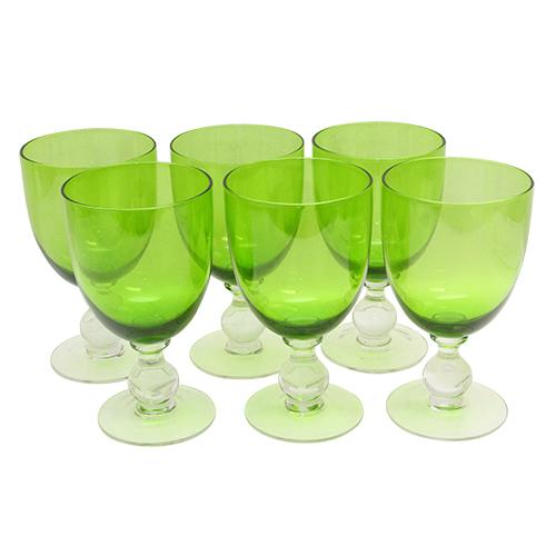 Pachet Cu 6 Pahare Smarald Din Sticla Verde 14.5 C