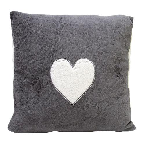 Perna Charcoal Heart Gri 45x45 Cm