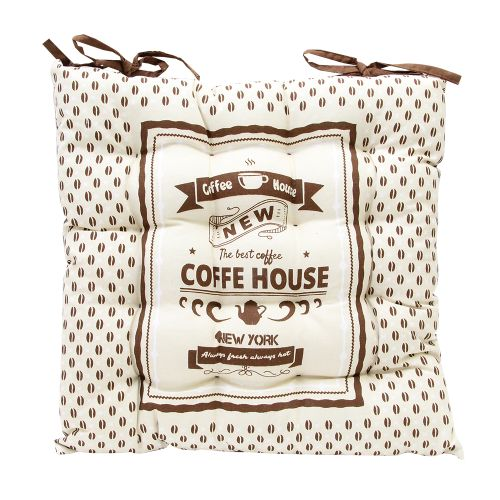 Perna Pentru Scaun Coffee Din Textil Bej 34x34 Cm