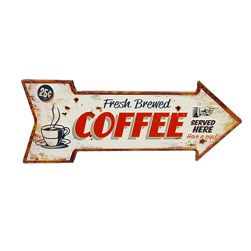 Placa Deco Coffee 50x19 Cm