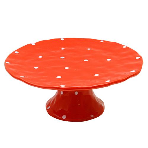 Platou Bubbles Din Ceramica Rosie 25x10 Cm