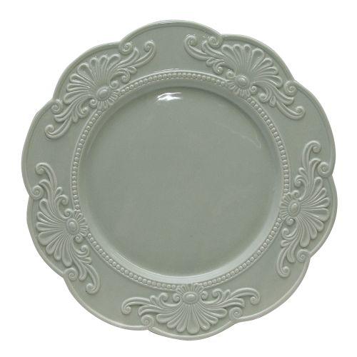 Platou Rotund Din Ceramica Verde 31 Cm