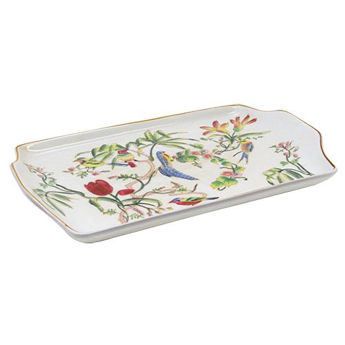 Platou Tropical Birds Din Ceramica 32.5x19x3 Cm