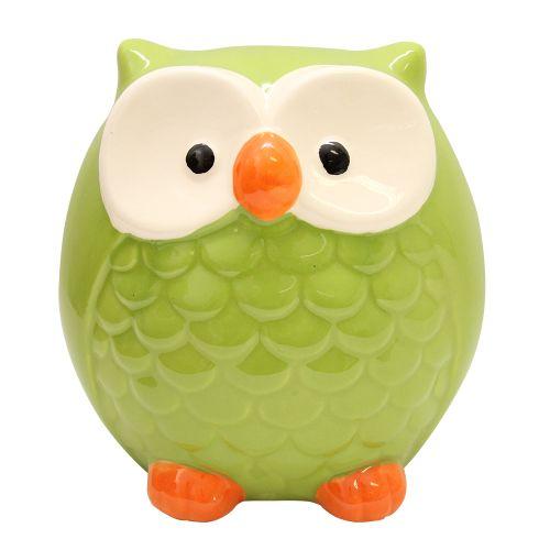Pusculita Bufnita Din Ceramica Verde