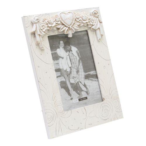 Rama Foto Din Lemn Alb 16.5x22 Cm